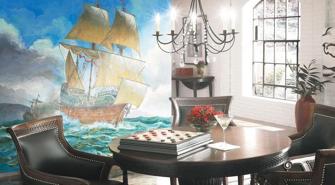 корабль с богатством фото фрески касается